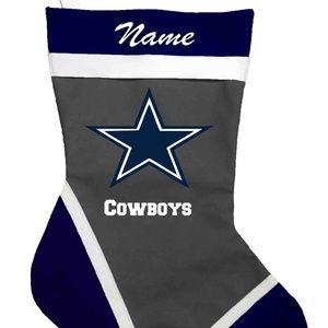 Cowboys Personalized Christmas Stocking